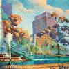 Color images (Paintings( Boathouse Row by Perry Milou Washington Square Afternoon by Elaine Moynihan Lisle and Logan Circle by Rob Lawlor